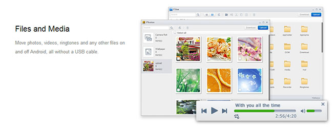 airdroid - transfer file media
