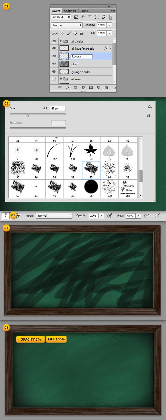 tutorial design Chalkboard - papan hitam (28)