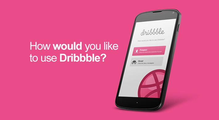Dribbble.com Android app user interface design by Moe Slah